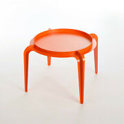 Designers Contemporary Round Coffee Table Bent Sheet Metal Powder Coated Oran