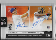 2019 Topps Now Home Run Derby Pete Alonso And Vlad Guerrero Jr. Auto And039d 2/5 Rc