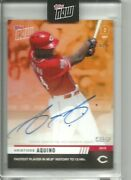 2019 Topps Now Aristides Aquino Call-up Autograph And039d 5/5 On Card Auto 784e Rc