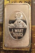 I Want Yours Uncle Sam Irs 999 Silver Art Bar 1 Troy Oz Collectable Tm-29