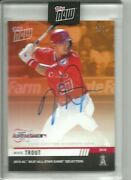 2019 Topps Now Laa Mike Trout Al All-star Game Selection On Card Auto And039d 3/5