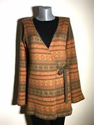 Gudrun Sjoden Cotton/wool Multi Color Wrap Up Cardigan Sizes