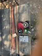 Vintage Fly Zurich Fisherei Reel And Rod Set With Handmade Lures Donandrsquot Buy
