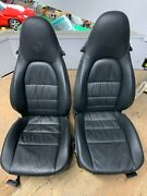 2010 Porsche Cayman Used Black Leather Seats - In Good Condition