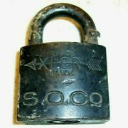 Antique 1909 Xlcr Trademark Padlock S O Co Standard Oil Without Key Ry167