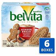 Belvita Limited Edition Gingerbread Breakfast Biscuits 6 Pack