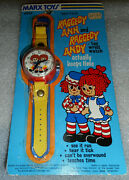 Raggedy Ann And Andy Marx Toy Watch  Brand New In Package  Near Mint