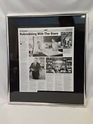 Rare Vintage Framed 1987 Newspaper Mike Roarty Collection Budweiser Marketing Vp
