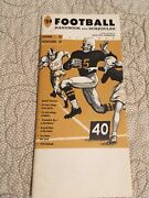 Green Bay Packers Handbook And Schedule From 1959