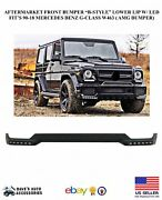 Aftermarket B-style Front Bumper Lower Lip White Led Drl - G63 G65 G-class 13-18