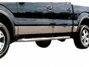 2009-2014 Ford F-150 Super Crew 6.5and039 Rocker Panel Trim 10pc 7 Stainless Steel