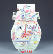 12.4andrdquorare China Antique Qing Dynasty Multicolored Mother And Son Binaural Vase
