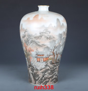 13andrdquorare China Antique Qing Dynasty Yong Zheng Pastel Landscape Vase