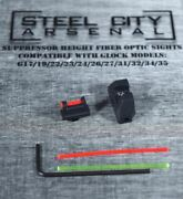 Steel City Arsenal Suppressor Height Fiber Optic Sights For Glock 17/19/22/23/24