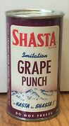 Clean Early Shasta Grape Punch Flat Top Soda Can--pre-zip Code