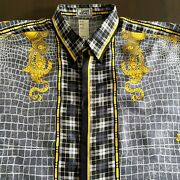Gianni Versace Silk Shirt Unusual Encounters Print Size It 52 From Fw 1992/93