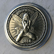 2016 Silverbug Community Alyx The Fairy Antiqued 1 Ounce .999 Silver Round