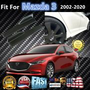 Fits Mazda 3 2008-2020 Carbon Fiber Style Side Skirts Diffuser Spoiler Wings