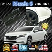 Fits Mazda 6 2008-2020 Carbon Fiber Style Side Skirts Diffuser Spoiler Wings