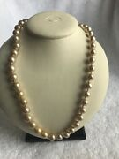 Vintage Faux Pearl Necklace Long 60 Inch Choker Costume Jewelry