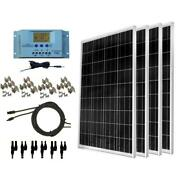 Windynation 400-watt Off-grid Polycrystalline Solar Panel Kit With Lcd Charge