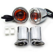 Rear Turn Signal Indicator Lights Clear Lens For Harley Xl 883 1200 Sportster 92
