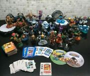 Skylanders, Swapforce And Giants Game Figures Lot With 2 Portals And Wii U Game