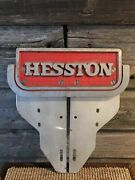 Hesston Nfr Extremely Rare Vintage Boot Scraper Advertising Sign