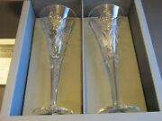 Nib Waterford Crystalthe Millennium Collectionhappinessset Of 2 Flutes-9.25