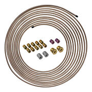 25 Ft 3/16 Copper-nickel Brake Line Tubing Coil And Fitting Kit Sae Inverted