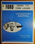 Ford 773 Farm Loader For 8000 9000 Tractor Owner Operator Manual Se3354-a 5/72