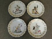 Lf44520ec Set Of 4 Chelsea House Paint Decorated Wall Plates
