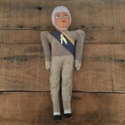 Rare Antique Vintage 1920s - 1930s Celluloid Football Player Doll 13 - 13 Tall