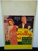 Vintage Movie Window Card Walter Wanger Presents Eternally Yours As Pictured