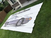 1988 Porsche 928 S4 Coupe Full Sized Outdoor Advertising Billboard Rare Awesome