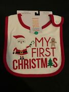 New Carters Infant My First Christmas Teething Bib Just One You 100 Cotton