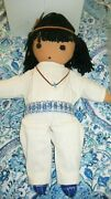 Rare 1977 Degrazia Cloth Dolls Ish-keen And Little Flora-signed-mib-free Shipping