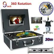 9lcd Wifi Ir Pipe Inspection Video Camera Drain Sewer Endoscope For Android/ios