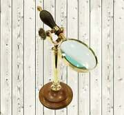 Brass Magnifying Glass 12 Nautical Antique Magnifier Office Desk Accessories
