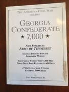 Signed Georgia Confederate 7000 Ga Infantry Brigade History, Army Of Tennessee