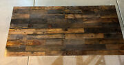 Industrial Farmhouse Handmade Unique Epoxy Resin Reclaimed Wood Table Furniture