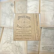 1961 Official Guide Railways And Steam Navigation Lines Airline Schedules Usa+