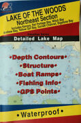 Lake Of The Woods Northeast Sect. Detailed Fishing Map Canada Waterproof Q270