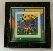 Romero Britto Artwork - Elephant Rare W/ Professional Gallery Frame And Matted
