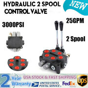 2 Spool Hydraulic Directional Control Valve 25gpm Adjustable Tractors Loaders Us