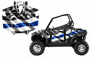 Rzr 800 S Graphic Kit 2011 - 2014 With Door Wrap Thin Blue Line Flag V2