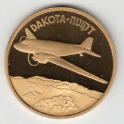Israel Airplanes That Made History Dakota Medal By Weishoff 50mm Bronze