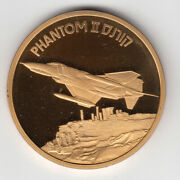 Israel Airplanes That Made History Fantom Ii Medal By Weishoff 50mm Bronze