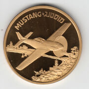 Israel Iaf Airplanes That Made History Mustang Medal By Weishoff 50mm Bronze