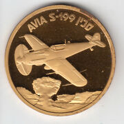 Israel Iaf Airplanes That Made History Avia S-199 Medal By Weishoff 50mm Bronze